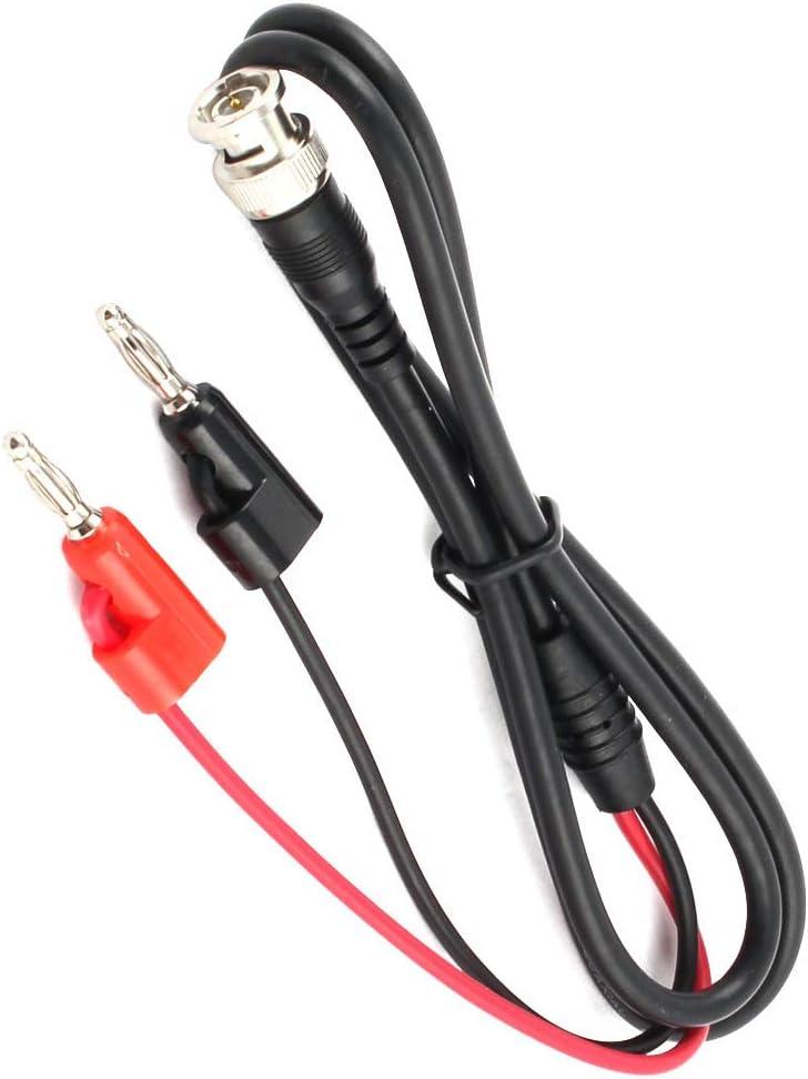 Aexit Cable coaxial 1M BNC macho Q9 a doble punta de prueba de banana para osciloscopio (ba16246fe5e689ed27466343584bf356): Amazon.es: Bricolaje y herramientas