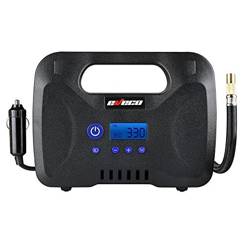 Tire Inflator 12V Dc Air Compressor Pump Portable Digital Best For Car Rv Atv Suv Motorcycle Bike With Carry Case
