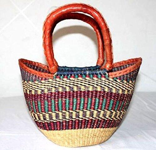 afriqueartdecoration.com África Art Decoration, arte decorativo africano.–Bolso de paja trenzada, moderno y de tendencia 7324-L2C-2403.
