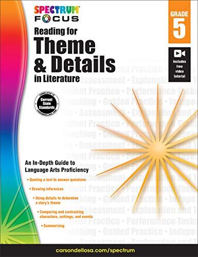 Spectrum Reading for Theme and Details in Literature, Grade 5 (Spectrum -