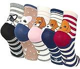 #1: Chalier 5 Pairs Womens Cute Funny Socks Casual Cotton Crew Animal Socks