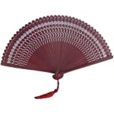 Chinoiserie Classical Bamboo Fan Hand Fan Beautiful Folding Fan Handheld Fan #14
