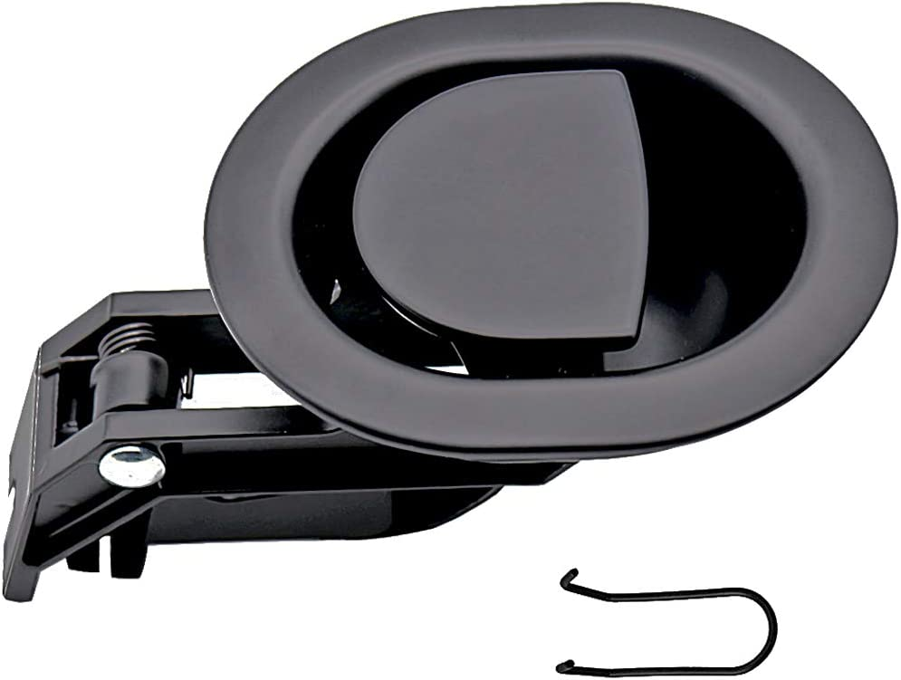 """Recliner Sofa//Chair Release Oval All-Metal Pull Recliner Handle Black 3/"""" by 3BA"""