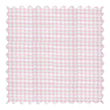 4f2c6de5413 Amazon.com: SheetWorld Pink Gingham Jersey Knit Fabric - By The Yard: Baby