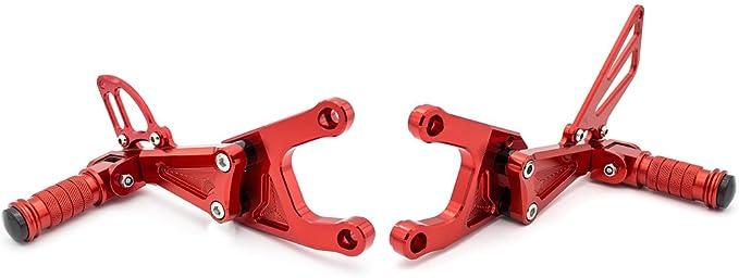 Moto CNC Rearsets repose-pieds repose-pieds arri/ère r/églable fix/é pour Benelli TNT 125 135 TNT125 TNT135 BJ125 2016 2017 2018 2019 2020