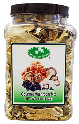 Mushroom House Dried Mushrooms, Gourmet Mix, 5 Ounce