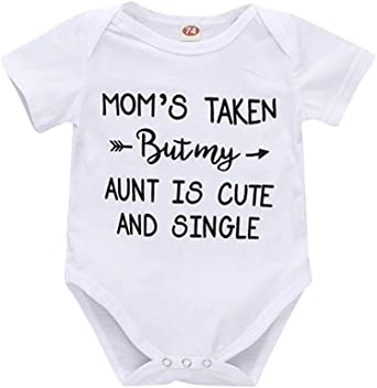 Newborn Baby Boy Girl Unisex Romper Bodysuit Jumpsuit Funny Clothes Outfit 0-18M