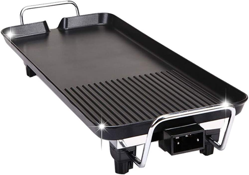 METTE Grill Barbecue - Electric Oven Home Smokeless Barbecue Iron Plate Barbecue Meat Electromechanical Baking Tray Korean Korean Barbecue Pot Baking Pan Non-Stick