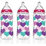 NUK 蝴蝶图案矫正奶瓶,290毫升,3 只装