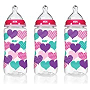 NUK Perfect Fit Baby Bottle, Girl, 10oz 3pk