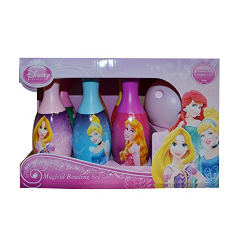 Disney Princess 'Royal Friends' 7 Piece Bowling Set Plastic Toys