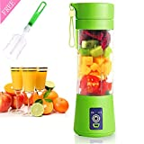 enable usb d - JAFIC USB Juicer Cup, Portable Personal Size Eletric Rechargeable Mixer USB Juice Blender 380ml Six Blades in 3D for Superb mixing [Upgraded Version]