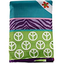 Your Zone Peace and Love Girls Bedroom Curtain Panel Set Durably made from 100% polyester