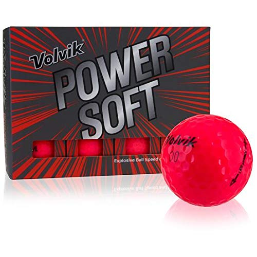 Volvik Power Soft Red Golf Balls Distance Power Soft Golf Balls