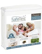 SafeRest Mattress Protector, Premium, Cotton, Waterproof Mattress Cover Protectors – White