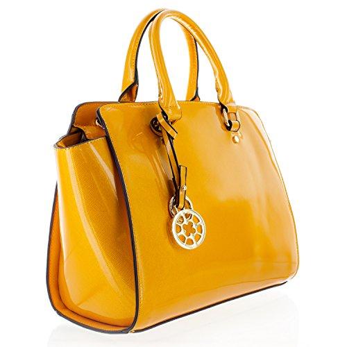K664018L MyLux® Women/Girl Fashion Designer Purse handbag (84037yellow)