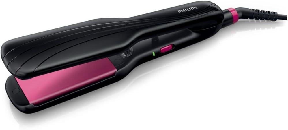 Philips HP832500 Lisseur à plaques larges (4,5cm) Diffusion ionique Idéal cheveux épais et longs