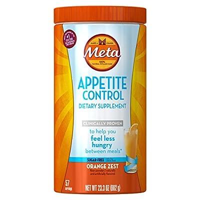 Metamucil Appetite Control Weight Loss Supplements, Orange Zest Sugar Free Fiber Appetite Suppressant, 57 Doses