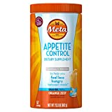Meta Appetite Control Fiber Dietary Supplement Orange Zest Sugar-Free Powder, 57 Doses, 23.3 Ounces