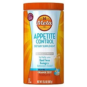 Metamucil Appetite Control Dietary Supplement, Sugar Free Orange Zest, 57 Doses