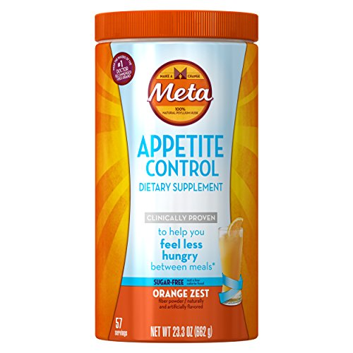 Metamucil Daily Appetite Control Weight Loss Supplements, Orange Zest Sugar Free Fiber Appetite Suppressant, 57 Doses
