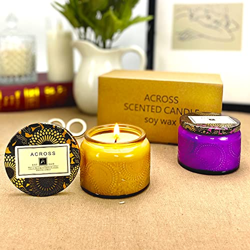 2 Pack Scented Candles Gift Set, Soy Wax Portable Travel Candles Women Mother Teacher Gift with Strongly Fragrance Essential Oils for Stress Relief Aromatherapy Bath Home Decor Christmas Birthday
