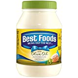 Best Foods Mayonnaise Dressing with Olive Oil combines the creamy, rich taste you love from Best Foods with the delicious goodness of olive oil. It's simple. Only the finest quality, non-GMO sourced ingredients – like cage free eggs (at least 50% in ...