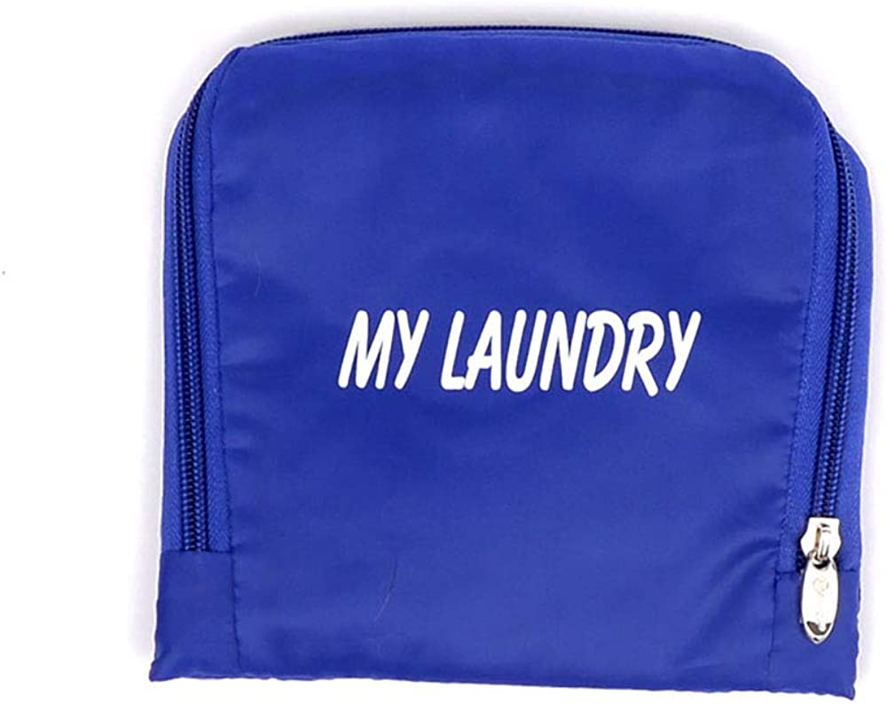 Miamica Travel Laundry Bag, Blue Cerulean