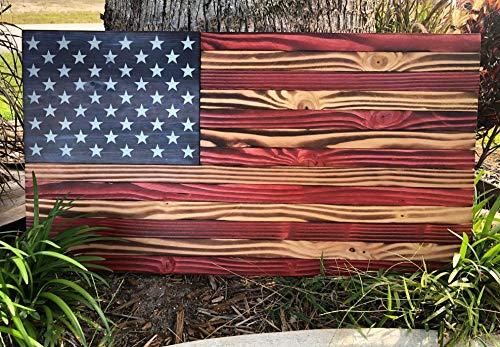 - Rustic American Wood Flag | 36