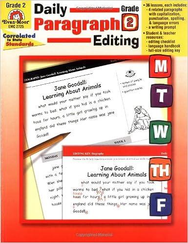 Daily Paragraph Editing, Grade 2: Evan Moor: 9781557999566: Amazon ...