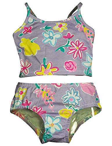 Girlfriends by Anita G Designer Clothes. - Little Girls 2 Piece Tankini Swimsuit, Lavender, Multi 11416-2T
