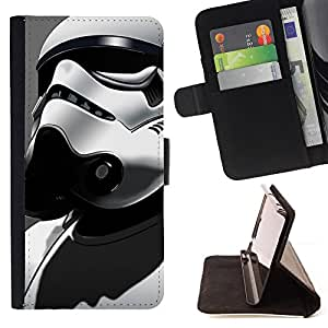 KingStore / Leather Etui en cuir / Sony Xperia Z3 D6603 / TORMENTA Tropp Star Soldier