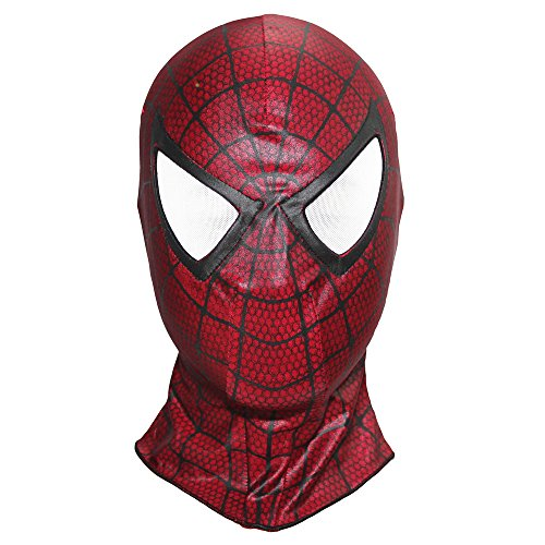 Spiderman 3 Homecoming Mask Costume Cosplay Balaclava Hood Adult (Red)