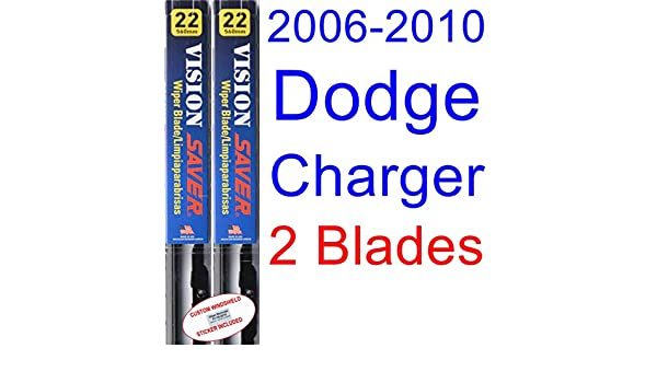 Amazon.com: 2006-2010 Dodge Charger Replacement Wiper Blade Set/Kit (Set of 2 Blades) (Saver Automotive Products-Vision Saver) (2007,2008,2009): Automotive