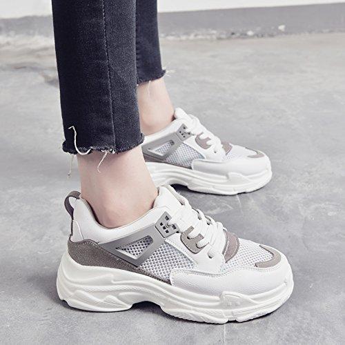 Zapatos Malla amp;G Transpirables NGRDX Deportiva Zapatos Mujer Zapatos Gray Zapatos g1qHqc6