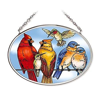 Amia Songbird Small Oval Glass Suncatcher: Home & Kitchen
