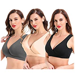 Ceestyle Women's Cotton Seamless Wide Shoulder Straps Sleep Bra for Nursing and Maternity [2020 Upgraded Version]