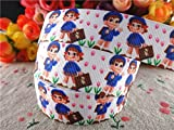 Generic 15100202, 7/839;39; (22mm) 10 yards school printed grosgrain ribbons girl and boy ribbon hair accessories tape