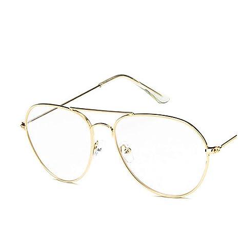 8461e65b66 Doitsa Gafas de Vista niña Vintage Montura metalique Redonda Vasos de Lente  Clara, Mode Fashion