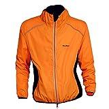 Wolfbike Cycling Jacket Jersey Long Sleeve Wind Coat, Color: Orange, Size: L