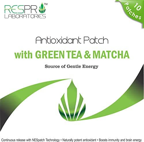Respro Labs Natural Antioxidant Patch with Green Tea (EGCG) & Matcha: Gentle Slimming Energy, Continuous Release - 10 Patches