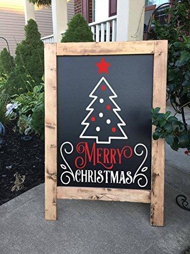 Christmas Chalkboard.Amazon Com Christmas Chalkboard Christmas Sign Merry