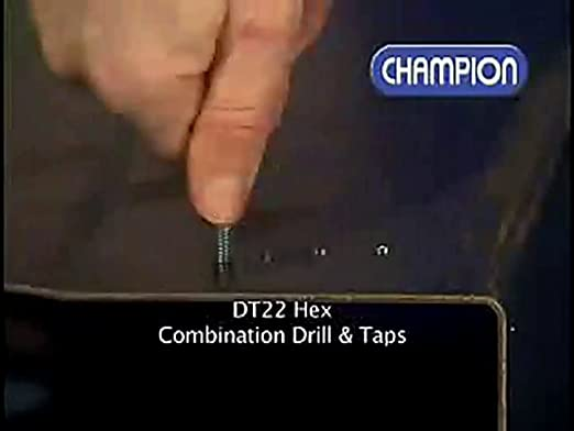 Champion DT22HEX-1//4-20 Combination 1//4-20 Drill and Tap Hex Shank by Champion Cutting Tool Corp