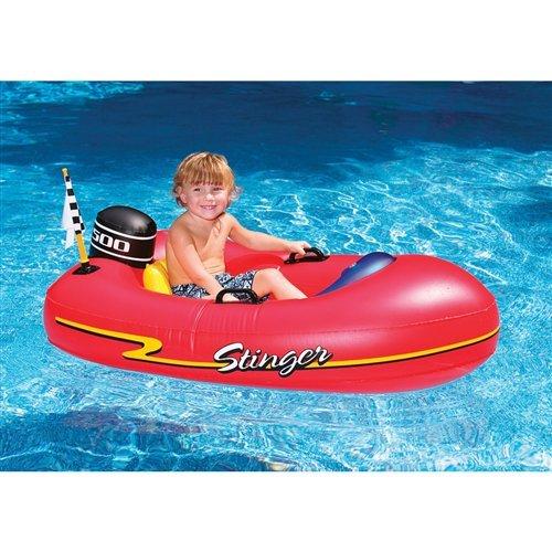 Speedboat Inflatable Ride Kiddie Red