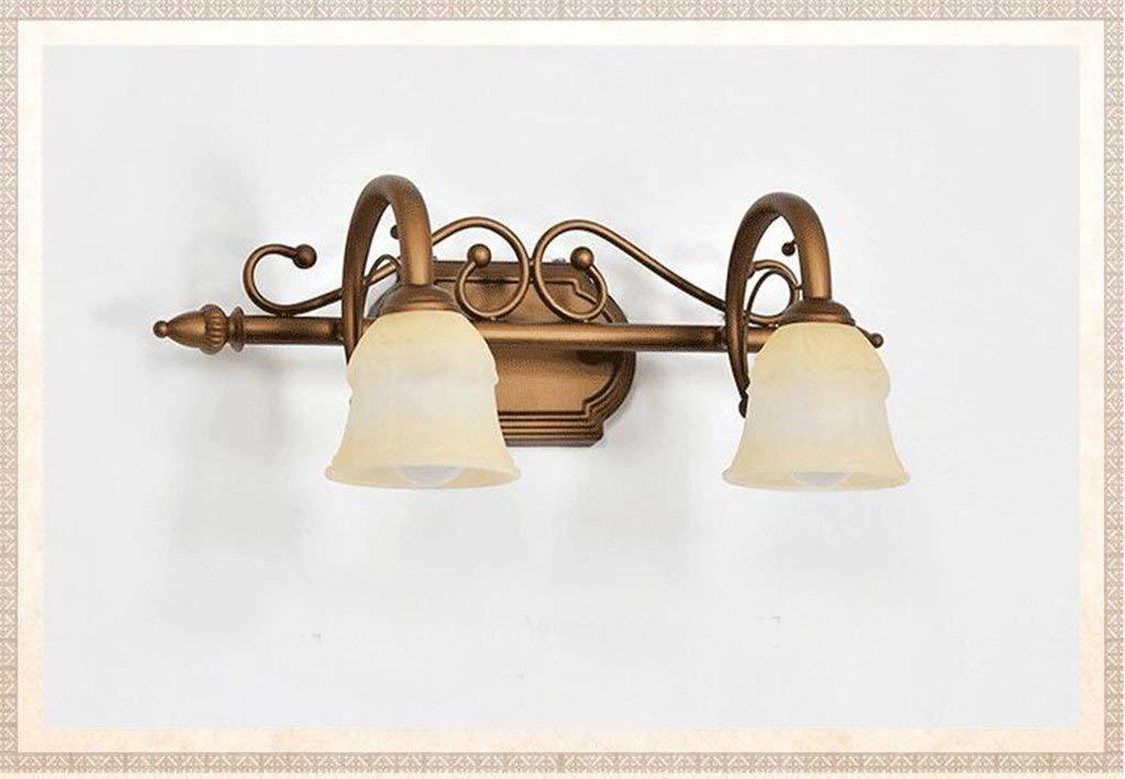 Im Europäischen Stil mit LED-Spiegel Scheinwerfer Badezimmer American Spiegel vordere Lampe Badezimmer Schminktisch Lampe Zubehör (Größe  Doppel Kopf-45  20 cm)