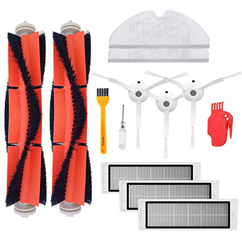 - Accessory Kit for Xiaomi Mi Robot Xiaomi mijia roborock s50 s51 roborock 2 Vacuum Cleaner Replacement Parts Pack of Main Brush,Hepa Filter,Side Brush,Cleaning Tool and Mop Cloth