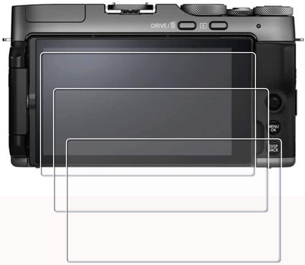PCTC Tempered Glass Screen Protectors Film Compatible for Fujifilm X-T200 XT200 Protector 3 Packs