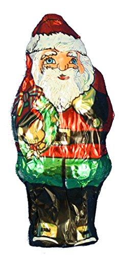 Foil Wrapped 1 Ounce Christmas Chocolate Figures - Santa Claus