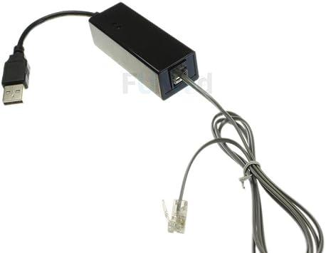 FYL New RJ11//RJ12 USB 56K Voice Fax Data External V.90 V.92 Modem Durable