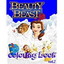Beauty and the Beast : Coloring Books: stress Relieving coloring book